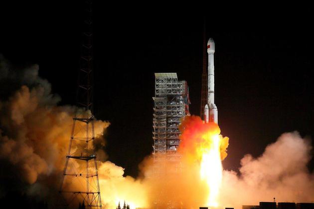 长征-3B运载火箭发射北斗-3第1、2颗组网卫星