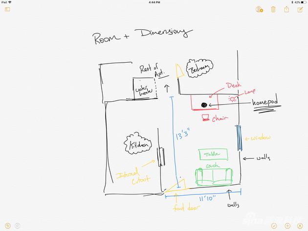 HomePod是在一个40平方米的客厅测试的