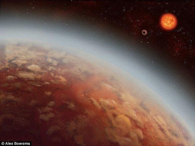 """此前曾有专家指出,这些体积超过地球十倍的天体也许能够为生命的基本组件提供支持。图为2015年发现的""""超级地球""""K2-18b的概念图。"""