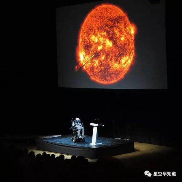 2015年,发表公开演讲的霍金教授