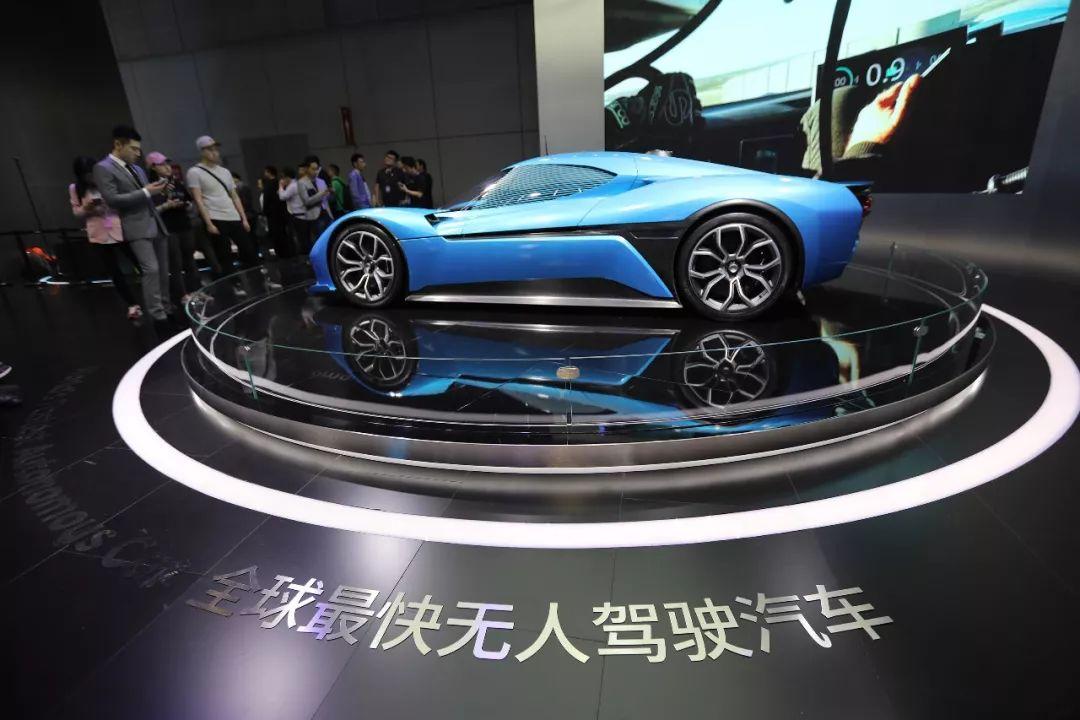 全球最快的无人驾驶汽车――蔚来汽车。@视觉中国