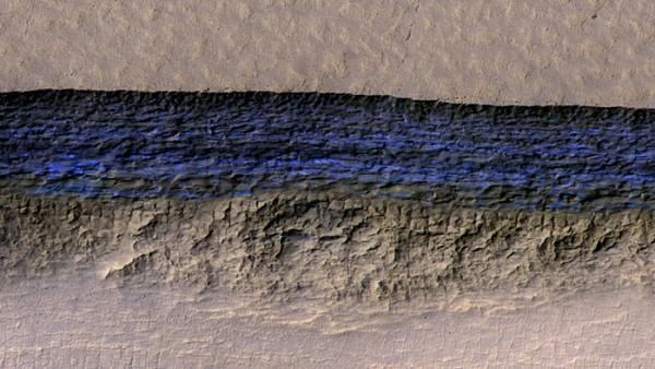 火星上的冰崖