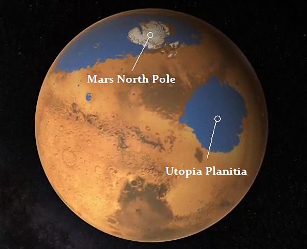火星北半球乌托邦平原下探得大量地下冰
