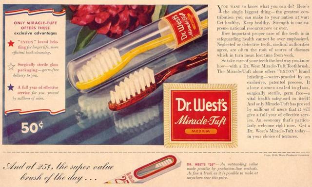 早期现代牙刷
